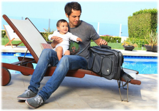 Convertible baby backpack diaper bag for dads