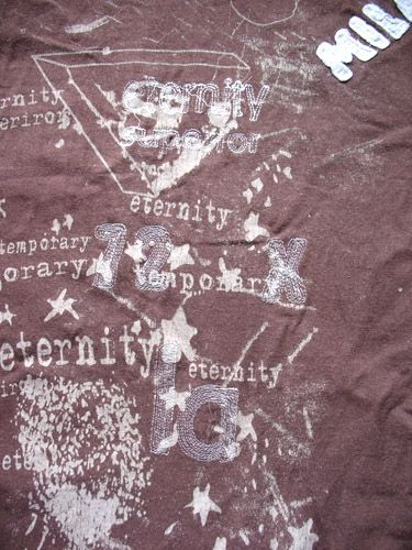 I love this design - a mixture of print and delicate stitch. It's a nice subtle effect for a t-shirt.