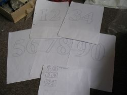 Print out some Number Templates