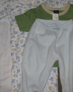 Thrifted baby clothes