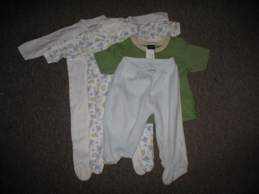 These garments (mostly 3-6 months) were 40p each from a new charity shop in my home town.