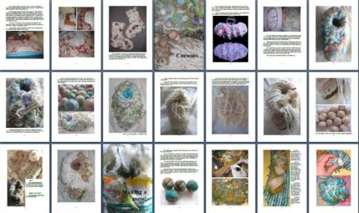 Thumbnails from Melting and Felting.