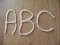 Play-dough ABC