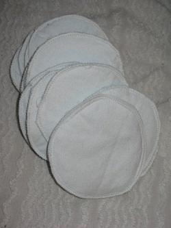 Homemade nursing pads
