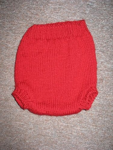 I decided to knit some legs to give the diaper cover a better seal!