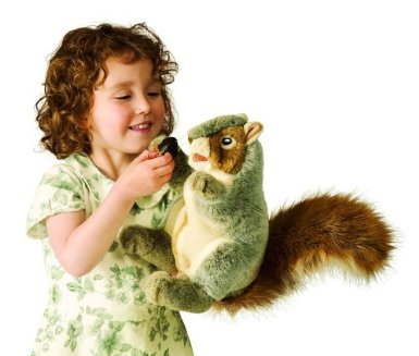 Kids love playing with squirrel stuffed animals