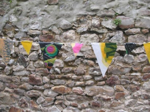 Plastic Bunting by MeltedRachel