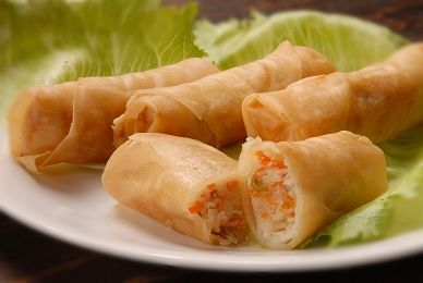 Mini spring rolls - my favourite Chinese starter but you need a deep fat fryer for them!