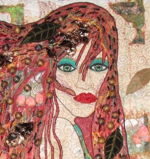 Autumn Art Quilt (detail)