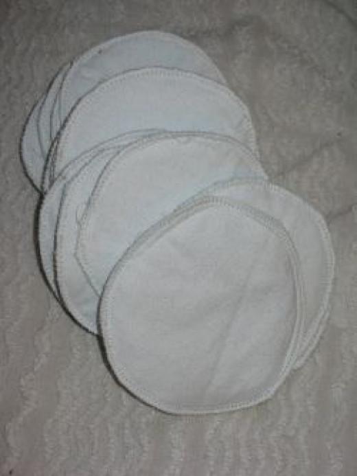 Easy homemade nursing pads.