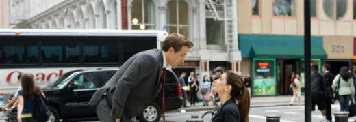 The funny Proposal in a side street