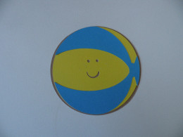 Beach Ball stripes adhered
