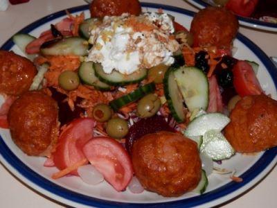 Spicy Shrimp Ball Salad
