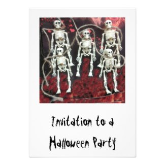 Halloween Party Invitation: Skeletons by GloriousConfusion See more of my designs in my Zazzle Shop: Glorious Confusion