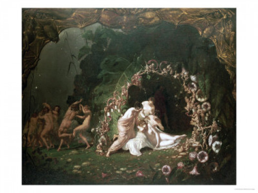 Titania Sleepping by Richard Dadd