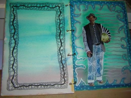 Zentangle in Art Journal