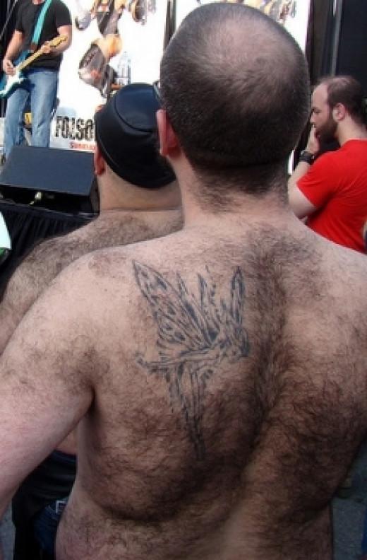 Hairy back; hairy fairy (CC.BY.2.0)