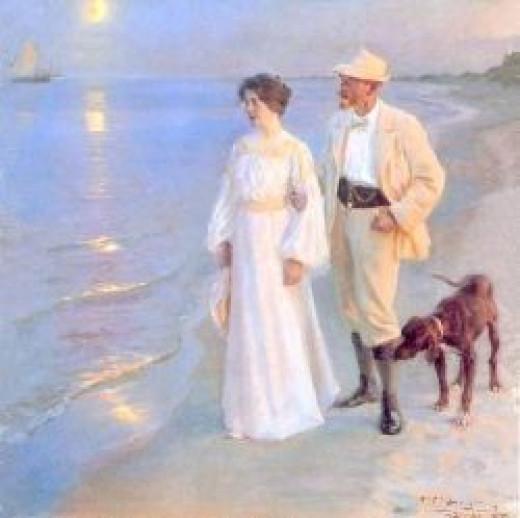 Tarde de verano en Skagen by Peder Severin Kroyer - 1899