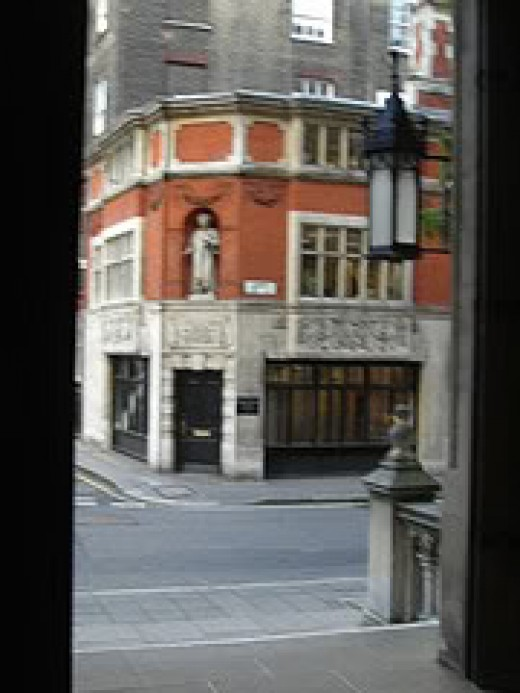 View of Carey Street From The Back Entrance of the Royal Courts of Justice