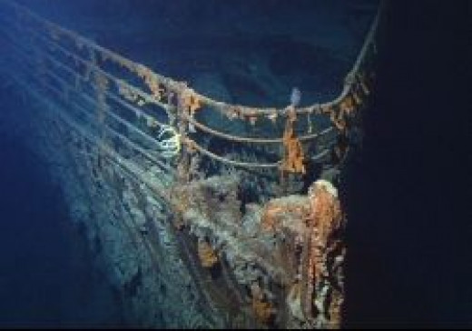 Bow of Titanic on the Ocean Floor