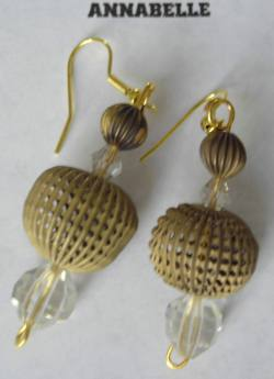 metal and Swarowski crystal beads