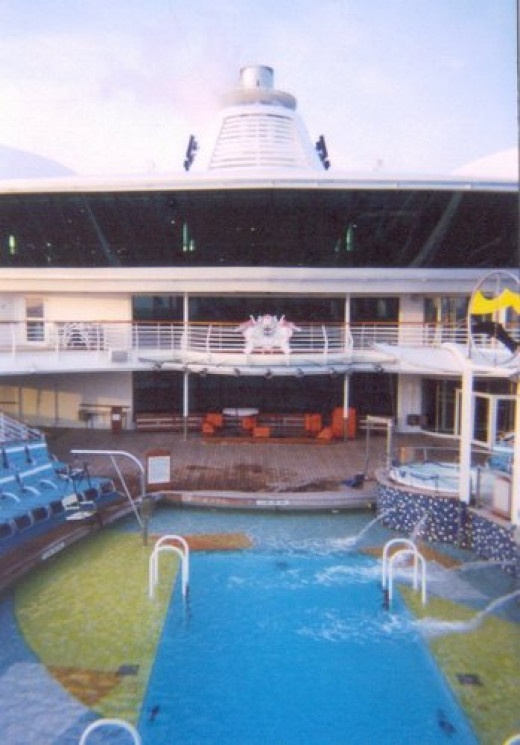 One of the pools on the Radiance of the Seas