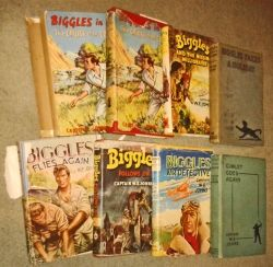Biggles and Gimlet books