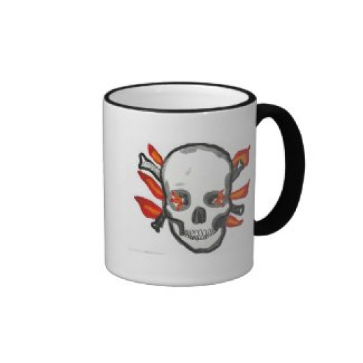 Skull Mug on Zazzle by Gloriousconfusion