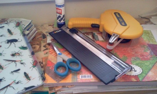 Junk journal supplies - all are optional.