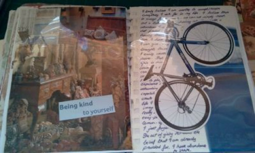 Junk journal - add more bits and pieces.