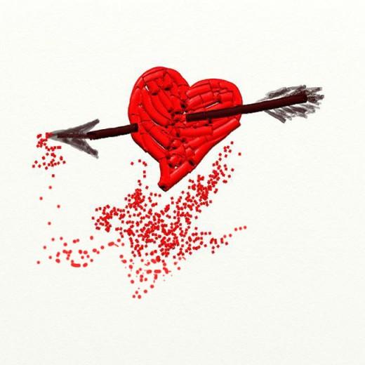 Bleeding Heart and Arrow