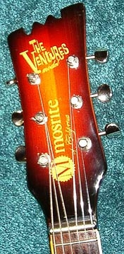 The Ventures Mosrite Guitar headstock, photo by Mike Licht on Flickr