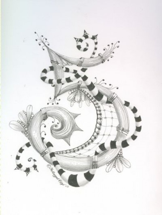 Zentangle Number 5