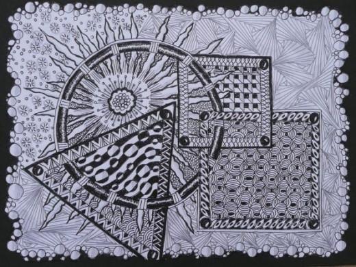 Zentangle: Geo-tangle