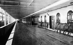 Promenade Deck on the RMS Olympic