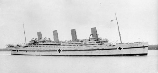 HMHS Britannic, serving as a hospital ship in World War II
