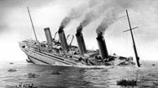 "Britannic Sinks, as shown in film ""Britannic"""
