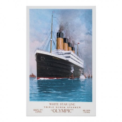 Olympic's Maiden Voyage:  June 14, 1911 (get it at Zazzle)