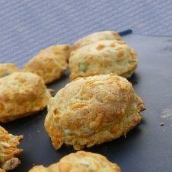Freshly baked chees scones