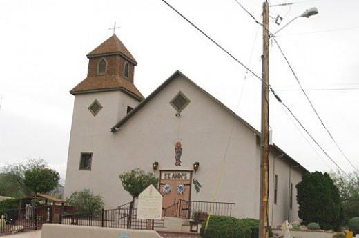St Ann's Catholic Church in Tubac.