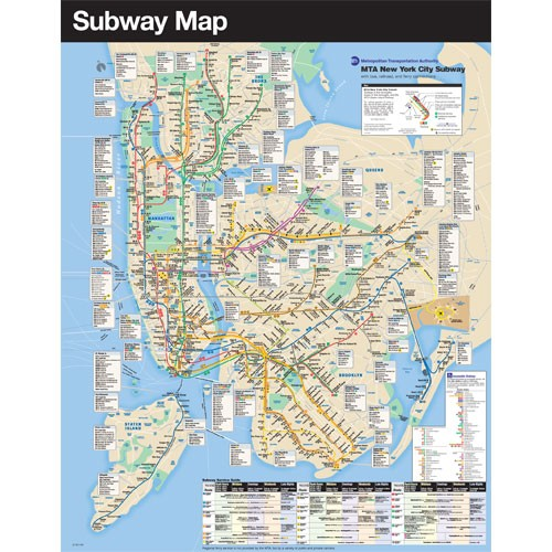Platform Map of the New York City Subway system