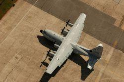 Hurricane Hunter Aircraft on the Ground at Kessler Air Force Base