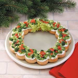 A Christmas Wreath Appetizer