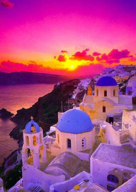 Fira Santorini sunset