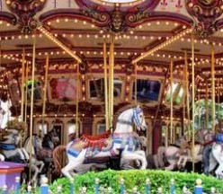 Christmas decoration for carousel lovers