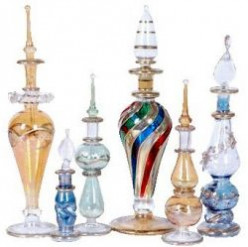 Vintage Egyptian Glass Perfume Bottles