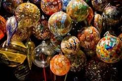 Blown glass Christmas ornaments