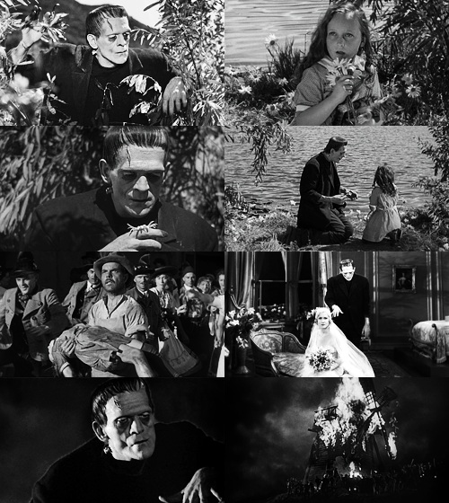 Collage of stills from the orginal movie 1931