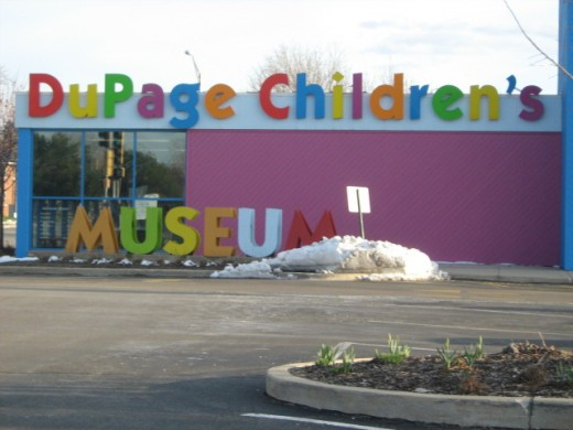Du Page Children's Museum on the north end of downtown in Naperville