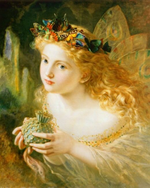 """Take the Fair Face of Woman, and Gently Suspending, With Butterflies, Flowers, and Jewels Attending, Thus Your Fairy is Made of Most Beautiful Things"" by Sophie Anderson"